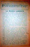 ESPERANTO CARTE MANUSCRITE LA MUZIKA LABIRINTO VOYAGE 1930 - Esperanto