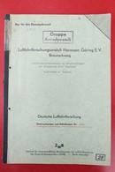 Luftfahrtforschungsanstalt Hermann Göring E.V. Umschlagpunktmessungen Am Originalflügel Baumuster P-51 Mustang Von 1943 - Militär & Polizei