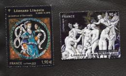 TIMBRES ...OBLITERATION RONDE..2014...LEONARD LIMOSIN...N°4928/4929...BE. - France