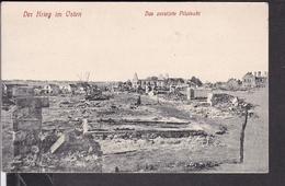 Das Zerstörte Pilwiszki , Pilviskiai Feldpost  1915 ? Landst.inf.Batl.no.5 Darmstadt - Lituanie
