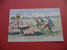 Carte Satirique Anti- Allemande De 1914 1918 - 1914-18