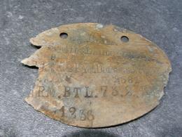 Plaque D'identité Allemande Mod 15 - 1914-18