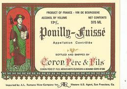Etiquette Pouilly Fuissé Coron Pere Et Fils - Bourgogne