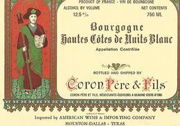 Etiquette Bourgogne Hautes Cotes De Nuits Blanc Coron Pere Et Fils - Bourgogne