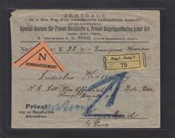 NACHNAHME VON PRAG NACH WEGSCHEID,KRIEGSGEFANGENENLAGER + ZURÜCK. - 1850-1918 Empire