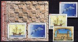 Burg Madrid 2017 Spanien 5154,Kroatien 734/5+Block 27 ** 47€ EUROPA Karacke Möwe Hoja Blocs S/s Ship Sheets Bf CEPT - 2017