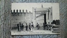 Oudjda Maroc Occupation D' Oudjda Avril 1907 Bal El Khemis Entrée De La Ville Gardée Par Des Zouaves Douanes Rare Bab El - Marokko