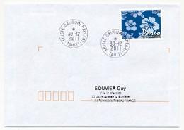 "POLYNESIE FRANCAISE - Enveloppe Affr. Pareo Oblitérée ""MUSEE GAUGUIN-PAPEARI   TAHITI"" 30-12-2011 - Lettres & Documents"