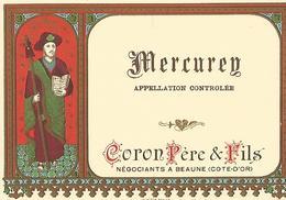 Etiquette Mercurey  Coron Pere Et Fils - Bourgogne