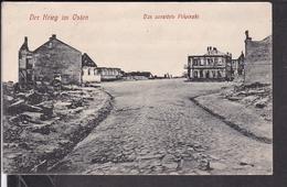 Das Zerstörte Pilwiszki , Pilviskiai Feldpost  1915 ? Landst.inf.Batl.no.5 Darmstadt , Landw.Div.Königsberg - Lituanie