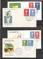 EUROPA CEPT-1958 Fdc Giro Completo 8 Buste (ref 804) - Europa-CEPT