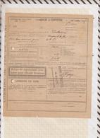 810234 CHEMINS DE FER AVIS DE SOUFFRANCE 1925 NOYANT LA GRAVOYERE - Titres De Transport