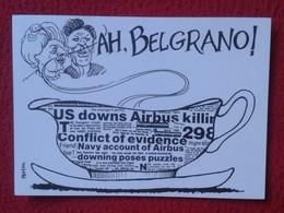 POSTAL POST CARD CARTE POSTALE MAGGIE MARGARET TATCHER POLITIC POLITICAL SATIRE AH BELGRANO ARGENTINA ? MALVINAS ? VER - Sátiras