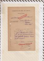 810231 CHEMINS DE FER GARE VAUGIRARD 1926 PV RECHERCHES - Transportation Tickets