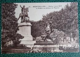 Cpa  - 34 - Montpellier - Statue Louis XIV - Sirène Au Plateau Du Peyrou - Montpellier