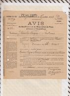 810230 CHEMINS DE FER GARE YVETOT 1914 AVIS DE SOUFFRANCE AMBULANT ROUEN à PARIS - Transportation Tickets