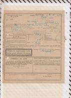 810227 CHEMINS DE FER GARE PLOEUC 1922 AMBULANT TREGUIER à PLOEUC - Titres De Transport