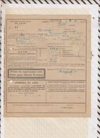 810227 CHEMINS DE FER GARE PLOEUC 1922 AMBULANT TREGUIER à PLOEUC - Transportation Tickets