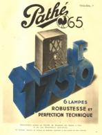 """PUB RADIO  """" PATHE 65  """"   1934 ( 1 ) - Autres"""