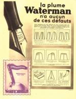 "PUB  STYLO-PLUME  "" IDEAL WATERMAN   ""    1934  (13) - Stylos"