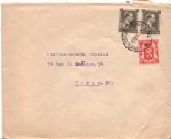 BELGIQUE : 1938 - Lettre Pour La France - Belgique