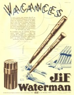 "PUB  STYLO-PLUME  "" IDEAL WATERMAN   ""    1934  (12) - Pens"