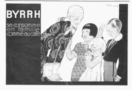 """PUB  """" BYRRH """" Par René VINCENT   1930  ( 19  ) - Autres Collections"""