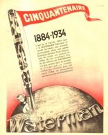 "PUB  STYLO-PLUME  "" IDEAL WATERMAN   ""    1934  (14) - Pens"