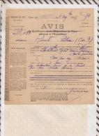 810229 CHEMINS DE FER GARE VAUGIRARD 1917 AVIS DE SOUFFRANCE - Titres De Transport