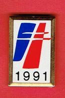 RASSEMBLEMENT POUR LA REPUBLIQUE 1991 PINS LOGO ORGANISATION POLITIQUE CHARLES DE GAULLE JACQUES CHIRAC - Organizations