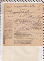 810228 CHEMINS DE FER GARE VAUGIRARD 1917 AVIS DE SOUFFRANCE - Transportation Tickets