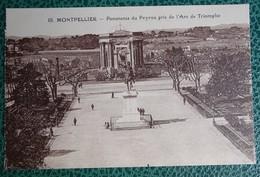 Cpa  - 34 - Montpellier - Panorama Du Peyron Pris De L'arc De Triomphe - Montpellier