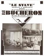 """PUB MEUBLES ( ART-DECO )  """" AU BUCHERON """" 1929 ( 4 ) - Meubles"""