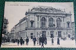 Cpa  - 34 - Montpellier - Théâtre Municipal - Montpellier