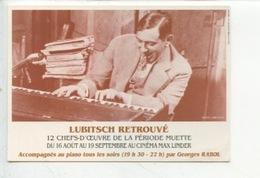 Ernst Lubitsch Réalisateur 1892/1947 Georges Rabol Piano, 12 Chefs D'oeuvres Période Muette Cinéma Max Linder - Attori