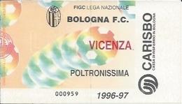 Sport Ticket UL000523 - Football (Soccer / Calcio) Bologna Vs Vicenza: 1997-05-18 - Tickets D'entrée