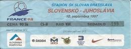 Sport Ticket UL000524 - Football (Soccer / Calcio) Slovakia Vs Yugoslavia: 1997-09-10 - Tickets D'entrée