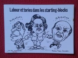 POSTAL POST CARD CARTE POSTALE MAGGIE MARGARET TATCHER POLITIC POLITICAL SATIRE LABOUR ET TORIES BLACKPOOL BRIGHTON UK - Sátiras