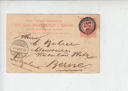 GRAN BRETAGNA  1899 - Intero Postale Per La Svizzera - Interi Postali