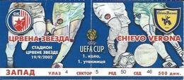 Sport Ticket UL000536 - Football (Soccer / Calcio) Crvena Zvezda (Red Star Belgrade) Vs Chievo Verona: 2002-09-19 - Tickets D'entrée