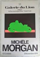 AFFICHE ANCIENNE ORIGINALE EXPOSITION MICHELE MORGAN 1974 Galerie Du Lion Place Des Vosges Paris 4è - Affiches