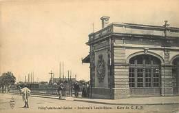 -dpts Div.-ref-AG775- Rhône - Villefranche Sur Saône -bd Louis Blanc - Gare Du C.f.b. - Cfb -ligne Chemin De Fer - Train - Villefranche-sur-Saone