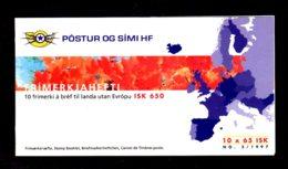 EUROPA 1997 - ISLANDE - CARNET Yvert C826 - Facit H38 - NEUF** MNH - Europa, Contes Et Légendes - Europa-CEPT