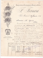 FERRARI / PORT MAURICE / ANNEE 1886 / FABRICATION / EXPORTATION HUILED OLIVE - Italia