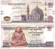 Egypt - 200 Pounds 06.12. 2015 AUNC Lemberg-Zp - Egypte