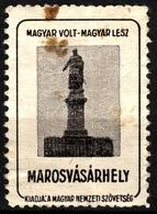 Marosvásárhely Târgu Mureș BEM General Revolution Monument Occupation Revisionism WW1 Romania Hungary Transylvania Label - Transylvanie