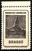 Brassó Brasov City Town House  - Occupation Revisionism WW1 Romania Hungary Transylvania Vignette Label Cinderella - Transylvanie