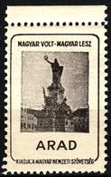 ARAD Revolution Martyrs Monument - Occupation Revisionism WW1 Romania Hungary Transylvania Vignette Label Cinderella - Transylvanie