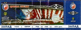 Sport Ticket UL000550 - Football (Soccer / Calcio) Crvena Zvezda (Red Star Belgrade) Vs Rosenborg Trondheim: 2003-11-27 - Tickets D'entrée