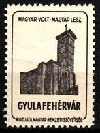 Alba Iulia Gyulafehérvár Church Occupation Revisionism WW1 Romania Hungary Transylvania Vignette Label Cinderella - Transylvanie